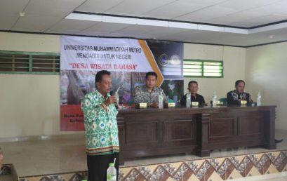 Mahasiswa UM Metro Siap Kolaborasi dengan Pemerintah Desa Banjarrejo