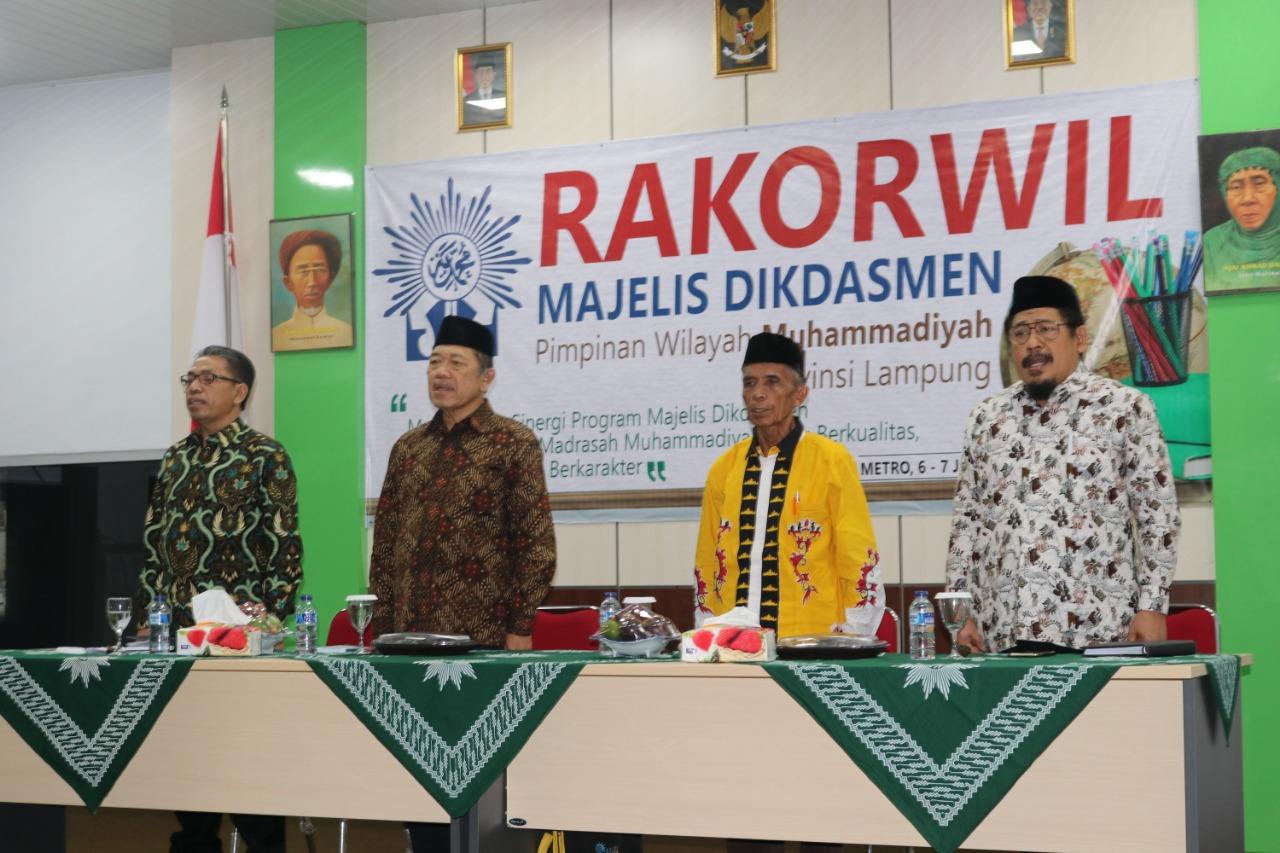 UM Metro jadi Tuan Rumah Rakorwil Dikdasmen PWM Lampung