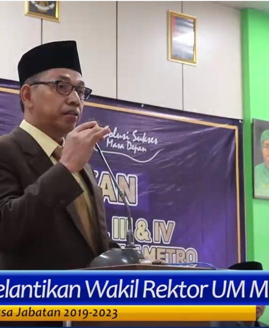 Beri Sambutan Pelantikan, Rektor UM Metro Himbau Wakil Rektor Baru Jadi Tim Solid